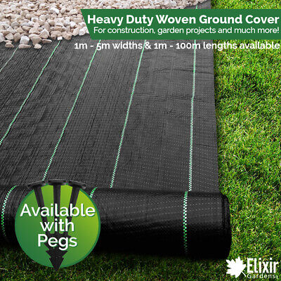 £23.99 • Buy Ground Cover Landscape Fabric Weed Control 1m 2m 3m 4m 5m Widths + Pegs