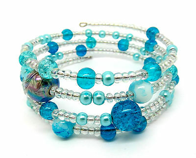 Memory Wire Bracelet Jewellery Making Kit Turquoise With Instructions K0008L • 2.69£