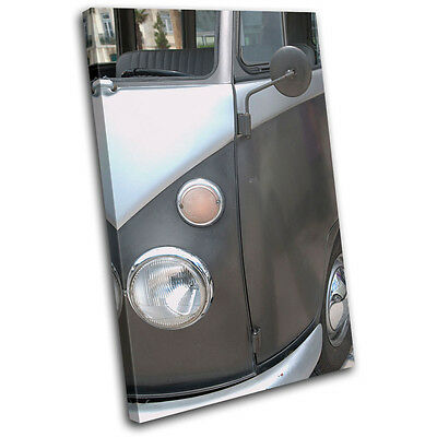 £59.99 • Buy Camper Van Transportation SINGLE CANVAS WALL ART Picture Print VA