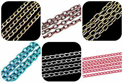 1 Metre Of Aluminium Chain Necklace OTHER COLOURS & STYLES Jewellery Findings ML • 1.39£