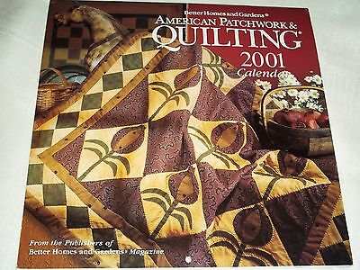 $5.42 • Buy American Quilter's Society 2001 Calendar ~ Quilt Patterns (New/Uncut)