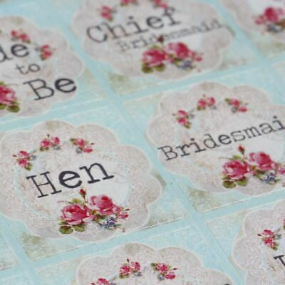 Luck And Luck Vintage Floral Doily Style Hen Party Sticker Sheet X 35 • 2.35£