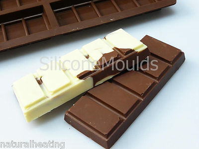 £9.99 • Buy 6 Cell SMALL 5 Sectional Chocolate Snap Bar Mould Silicone Bakeware Wax Melt