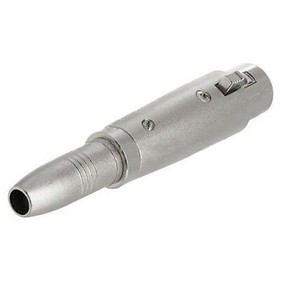XLR FEMALE Plug  To 6.35mm Stereo Jack Socket Microphone Cable Adapter Adaptor • 1.99£