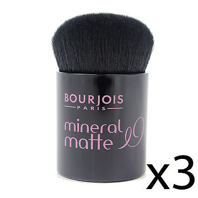 Foundation Kabuki Brush Bourjois Matte Mineral Powder Makeup Applicator 3 Pack • 8.99£