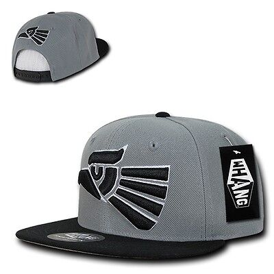 Gray   Black Mexican Hecho En Mexico Eagle Aguila Embroided Snap Back Hat  Cap • 16.95 c625877d40bc