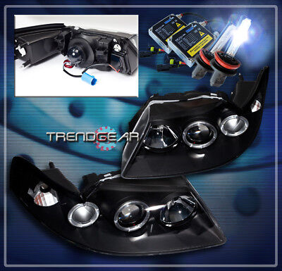 $184.95 • Buy 1999-2004 Ford Mustang Halo Projector Headlight+hid 8k Black 2000 2001 2002 2003