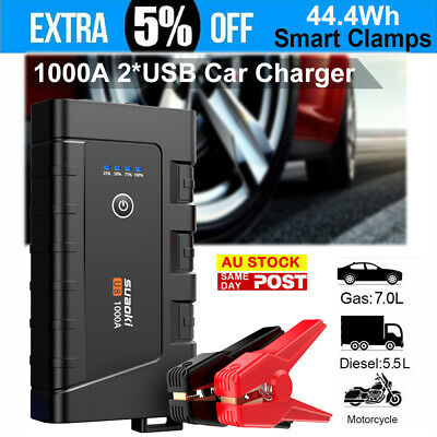 AU94.99 • Buy Suaoki 44.4Wh 1000A Emergency Jump Start Car Booster Battery Charger Smart Clamp