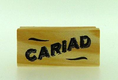 East Of India Rubber Craft Welsh Design Stamp Cariad Sweetheart/Darling • 3.25£