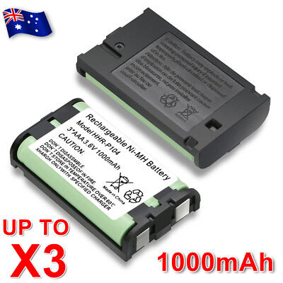 AU5.95 • Buy Battery For Panasonic HHR-P104 HHR-P104A Cordless Phone Ni-MH 3.6V 1000mAh