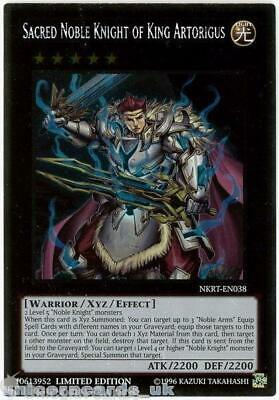 NKRT-EN038 Sacred Noble Knight Of King Artorigus Platinum Rare Mint YuGiOh Card • 2.13£
