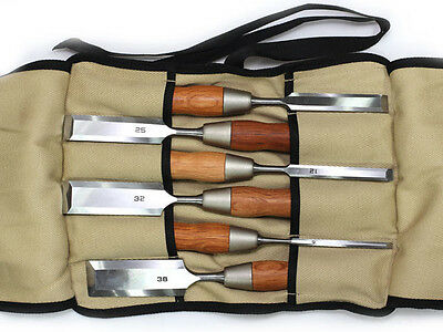 Japanese Hybrid Chisel With Long Blade Red Oak Handle 6-Piece Set DT710287 • 211.99£