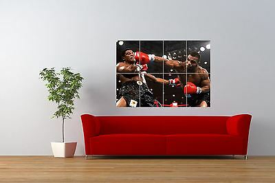Boxing Iron Mike Tyson Knockout Giant Wall Art Poster Print • 12.99£
