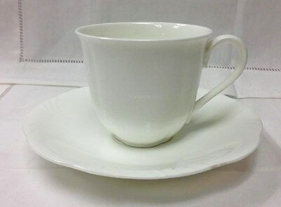 Villeroy & Boch  Arco Weiss  Teacup & Saucer White Bone China New Germany • 18.21£