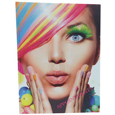 Appointment Book Diary Hair Beauty Salon Mobile RAINBOW HAIR Design 6 Coulmns • 11.95£
