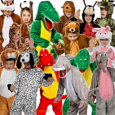 Kids Animal Costumes Zoo Book Week Fancy Dress Child Girls Boys Outfit • 11.99£