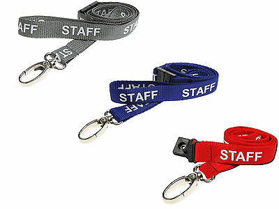 Neck Strap Lanyard ID Card Holder - STAFF With Safety Breakaway, Metal Clip NHS • 2.29£
