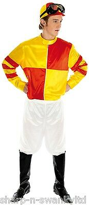 Mens Adult Jockey Horse Racing Races Grand National Fancy Dress Costume Outfit • 26.99£