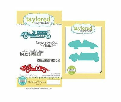 Taylored Expressions Rubber Cling Stamp(5) & Die(2) Set ~ VROOM, VROOM  ~TEPS153 • 18.89$