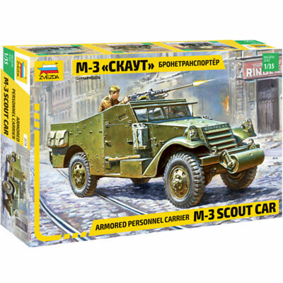 ZVEZDA 3519 M3 Scout Car Military Model Kit 1:35 • 15.05£