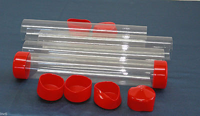 $6.95 • Buy 2  To 3  Clear Plastic Packing Storage/Shipping Tube W/Cap U-Pick Color, Size