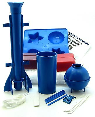 Candle Making Kit. Moulds, Wick, Wax, Instructions ~ Moulds Edition • 19.99£