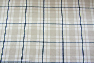 £11.99 • Buy Aoste Check Cotton 140cm Wide Curtain/Craft Fabric Blue
