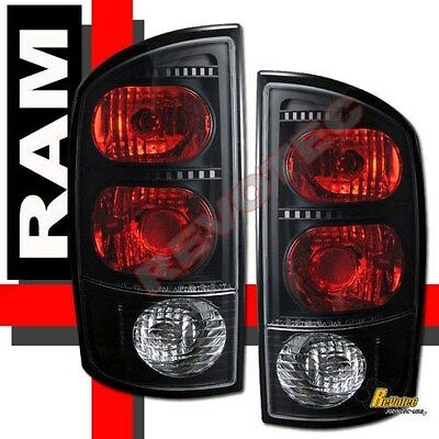 $61.95 • Buy 02-05 Dodge Ram 1500 03-05 Ram 2500 3500 Pickup Black Tail Lights Lamps 1 Pair