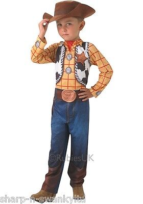Boys Disney Classic Toy Story Woody Cowboy Book Day Fancy Dress Costume Outfit • 24.99£
