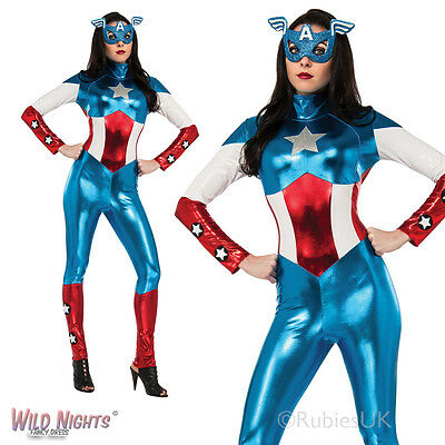 £36.98 • Buy Ladies Miss American Dream Avengers Marvel Captain America Fancy Dress Costume