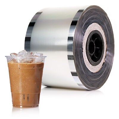 $46.99 • Buy Cup Sealer Film Boba Bubble Tea Clear Sealing PP 3275 Cups @ 90mm-105mm