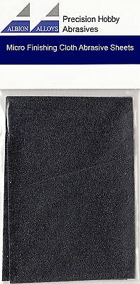 £6.45 • Buy Albion Alloys Micro Finishing Cloth Abrasive Sheets Pack Of 2 1500 Grit 2060