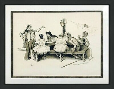 $ CDN3640.18 • Buy Norman Rockwell  Circus  1971 | Rare Hand Signed & Numbered | Framed | Gallart