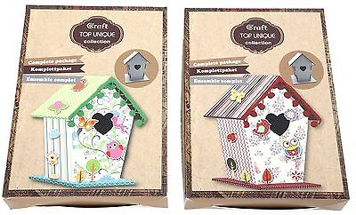 Make Your Own Birdhouse Childrens Card Paper Craft Kit ~ Birdhouse Kit • 2.10£