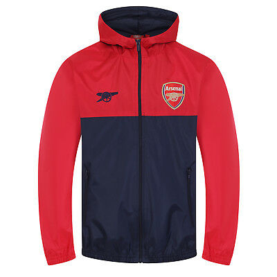 Arsenal FC Official Football Gift Boys Shower Jacket Windbreaker • 24.99£