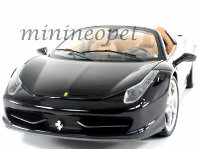 Hot Wheels Elite Bcj90 Ferrari 458 Italia Spider 1/18 Diecast Glossy Black • 72.68£