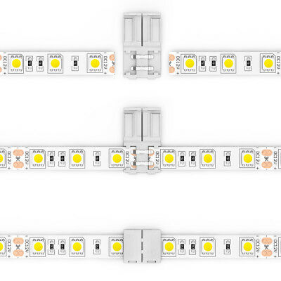 $6.98 • Buy 15pcs Connectors For 10mm Wide 5050 SMD 2-pin Single Color Led Strip Light