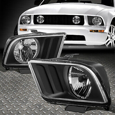 $68.88 • Buy For 05-09 Ford Mustang S197 Pair Black Housing Headlight Replacement Head Lamps