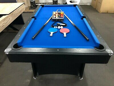 AU539 • Buy 7 Foot Pool Table With Blue Felt Plus Accessories   New Model
