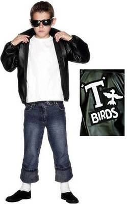 Boys Official Licensed Grease T-Bird 1950s Film Fancy Dress Costume Outfit 6-12y • 22.99£