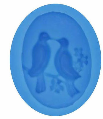 £4.67 • Buy Love Birds Dove Silicone Mold For Fondant Gum Paste Chocolate Crafts