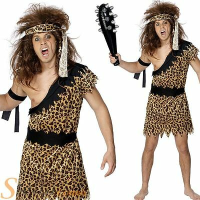 £11.95 • Buy Mens Caveman Tarzan Jungle Fancy Dress Costume Stag Do Cave Man Adult Outfit