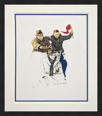 $ CDN5600.28 • Buy Norman Rockwell  Cheering  1972 | Hand Signed Print | Framed | Others Available