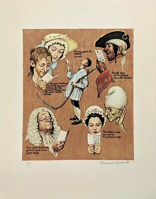 $ CDN2613.46 • Buy Norman Rockwell  The Golden Age  1973 | Signed Print | Poor Richard's Almanac