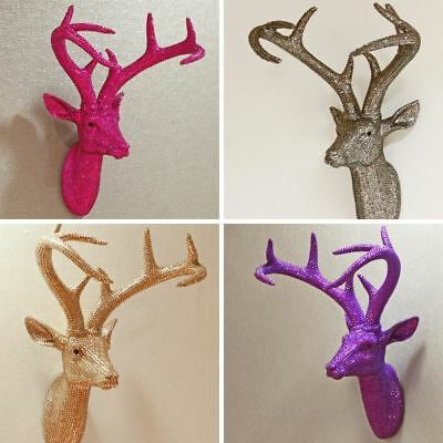 New Arthouse Diamante Star Studded Stag Head Resin Deer Mountable Wall Art • 69.99£
