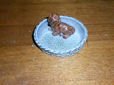 Vintage Wade Figurine Pin Tray *dog *puppy *whimtrays *made In England Pottery • 14.59£