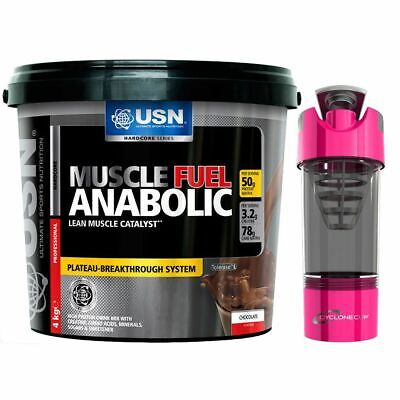 £54.99 • Buy USN Muscle Fuel Anabolic 4Kg All In One Muscle Gainer Mass Gainer+Cyclone Shaker