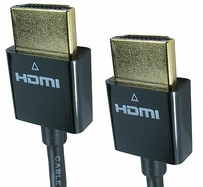 £3.55 • Buy Slim Hdmi Cable 3D TV Sky High Speed Short HD Audio Video Lead GOLD 50cm