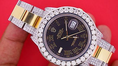 $ CDN23683.63 • Buy Rolex DateJust II 2 41mm Watch 116333 Iced Out 10 Carats Diamonds Classy Unused
