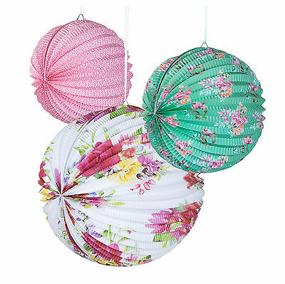 £8.99 • Buy 3 X Vintage Style Pretty Paper Lanterns Party / Wedding Decorations  FREE PP